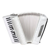 IRIN 34 Key 48 Bass Accordion Musical Instrument Accordion White Beginner Adult Musical Instrument White Pattern Keyboard Musical Instrument Gift