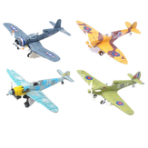 4D Modelo de Aeronaves de Plástico Montar Brinquedo Avião 1/48 Supermarine Spitfire Fighter 18 * 22 CM