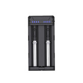 XTAR FC2 Battery Charger Charging For AAA AA Rechargeable Batteries 2 Slots Charger Li-ion NiMH NiCD 21700 18650 Battery Charger