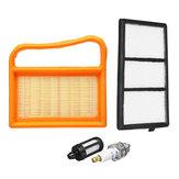 4 pezzi Accessori per tosaerba Filtro aria Spark Plug Kit per STIHL TS410 TS420
