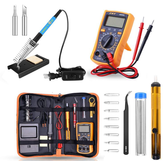 13 Pcs 60W Listrik Solder Iron Multimeter Adjustable Suhu Welding Tool Set