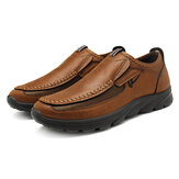 Menico Lässige bequeme Soft Moc Toe Slip On Leder Oxfords