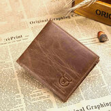 Bullcaptain Men Genuine Leather Thin Card Holder Wallet