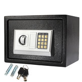 250×350×250mm Black Steel Digital Electronic Coded Lock Home Office Safe Box Override Key