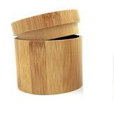Reloj de madera de bambú portátil de estilo retro Caja Colección de joyas Almacenamiento Caja