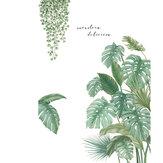 DIY pegatinas de pared hojas verdes tropicales Planta Impermeable calcomanía de pared removible oficina en casa sala de estar dormitorio decoración de pared