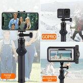 LEDISTAR 19.5cm-76.5cm Extensão telescópica de Selfie Rod Varanda com Bluetooth Smartphone à prova d'água Caso Universal para GoPro OSMO Action Camera