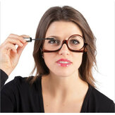 Rotatable Lens Reading Glasses Enlarged Folding Makeup Use Of Eyeglasses for Women