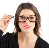 Leesbril met draaibare lens Vergrote opvouwbare make-up Gebruik van een bril voor vrouwen