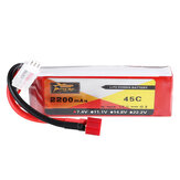 ZOP Power 7.4 V 2200 mAh 2S 45C Bateria Lipo T Plug do samochodu RC