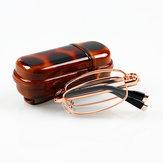 Men Women Folding Presbyopic Glasses With Glasses Case
