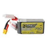 TATTU R-LINE 1.0 11.1V 750mAh 95C 3S Lipo Battery XT30 Plug for Taycan 25 Eachine Lizard95 FPV Racer