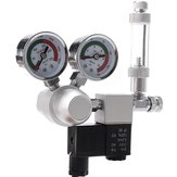 Aquarium Dual Gauge CO2 System Pressure Regulator Bubble Counter SolenoidAquarium Air Pump Counter