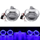 2Pcs Mini Car LED Faróis do projetor Anel de Halo Angel Eye Lights LHD Bi-Xenon ESCONDEU Lâmpadas 3000LM 3 Inch 12V 35W