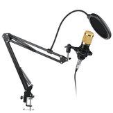 BM-800 Condenser Microphone Live Studio Vocal Recording Mic Mount Boom Stand Kit