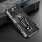 Bakeey for Xiaomi Redmi Note 9 / Redmi 10X 4G Case Dual-Layer Rugged Armor Magnetic with Belt Clip Stand Non-Slip Anti-Fingerprint Shockproof Protective Case Non-Original