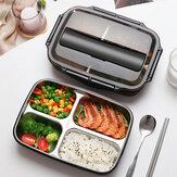 Boîte à lunch de division de grande capacité en acier inoxydable boîte à lunch de compartiment d'isolation de chauffage de four à micro-ondes