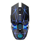 YINDIAO A7 Wireless Rechargeable Mouse 2.4GHz Optical Silent Game Mouse For Laptop PC Computer