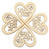 10pcs Houten Laser Cut Heart Shapes Craft Embellishments Decoratie Wedding Favoriet