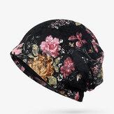 Femmes Fleurs Coton Dentelle Bonnet Chapeau Ethnique Vintage Bon Élastique Respirant Turban Casquettes