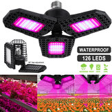 126 LED Grow Lights Panel Full Spectrum E27 LED Serra per la crescita delle piante lampada