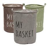 O tecido de linho de algodão lavanderia dobrável que lava bolsa de empecilho veste a caixa de armazenamento de cesto