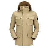 Мужская куртка Camel Crown Водонепроницаемы На открытом воздухе с капюшоном и несколькими карманами