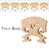 NAOMI 1PC naturalne suche drewno klonowe skrzypce akustyczne części do skrzypiec W / różne rozmiary 4/4 3/4 1/2 1/4 1/8