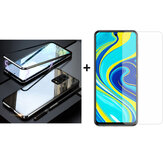 Bakeey 9H Anti-explosion Anti-scratch Tempered Glass Screen Protector + Black Magnetic Double-sided Tempered Glass Metal Flip Full Cover Protective Case for Xiaomi Redmi Note 9s / Redmi Note 9 Pro / Redmi Note 9 Pro Max Non-original