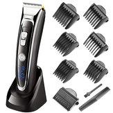 SURKER Rechargeable Hair Clipper Trimmer Beard Shaver Cordless Washable LED Display Ceramic Blade