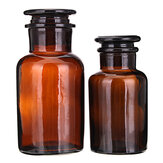 Amber Glass Wide Mouth Bottle Chemical Reagent Storage Bottles Lab Glassware 60/125/250/500mL