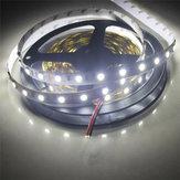 2PCS 5M SMD5050 300 LED純粋な白非防水フレキシブルテープストリップライトランプDC12V