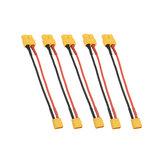 5 Pcs 10 cm 20AWG XT60 Feminino Plug para XT30 Masculino Plug Adapter Cabo para Bateria carregamento