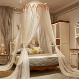 Ceiling-Mounted Mosquito Net Free Installation Dustproof Breathable Home Dome Foldable Bed Canopy Princess