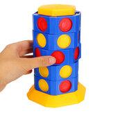 Juego de juguetes de ajedrez para niños 3D giratorio Juego de rompecabezas de interacción entre padres e hijos