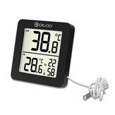 DIGOODG-TH01MiniLCDDigitalTermômetro Multifuncional Temperatura Ao Ar Livre Indoor Sonda Sensor Monitor