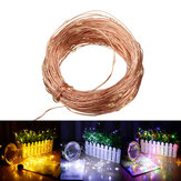 20 M 200LED 2 Modi / 8 Modi Solar String Lights Waterdicht Koperdraad Strip Fairy Garden Decor Kerstversiering Klaring Kerstverlichting