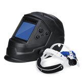 Soldadura automática do escurecimento da energia solar Máscara Capacete de solda do escurecimento do automóvel Área grande da vista 4 Sensores Ajuste externo Arco Tig Mig DIN5-DIN13