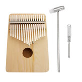 17 Key Kalimba Wood Thumb Piano Finger Keyboard Instrument  w/Tuning Hammer Gift
