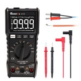 MUSTOOL MT109 Portable 9999 Tellingen True RMS Multimeter AC DC Spanningsstroom NCV Temperatuurtester Auto bereik Backlight en zaklamp met zwart EBTN scherm