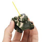 Happy Cow 27MHZ 777-215 Mini Radio RC Army Battle Zbiornik na podczerwień ze światłem modelu zabawki dla dzieci prezent