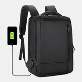 Erkekler 15.6 İnç USB Şarj İş Dizüstü Çanta Sırt Çantası