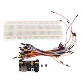 3pcs Geekcreit MB-102 MB102 Solderless Breadboard + Power Supply + Jumper Cable Kits