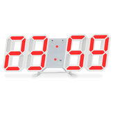 Luminous 3D Digital Clock Voice Controll Wall Mounted LED Electronic Alarm With Temperature Checking