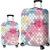Honana Mermaid Embossment Style Elastic Gepäck Abdeckungs-Trolley-Kasten-Abdeckung Durable Koffer Schutz für 18-32 Zoll-Kasten-warmes Reise-Zubehör
