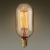 Kingso E14 T45 40W Edison Ambra Vintage Lampadina ad incandescenza per la decorazione domestica AC220V