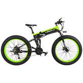 [EU Direct] LANKELEISI XT750PLUS 12.8Ah 48V 1000W Bromfiets Elektrische fiets 26 inch Slimme vouwfiets 40 km / u Max. Snelheid Max. Belasting 180 kg Met EU-stekker