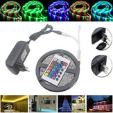 5M waterdichte 3528 RGB 300 LED's Flexible Strip Light 24 Keys IR Afstandsbediening + Power Adapter DC12V