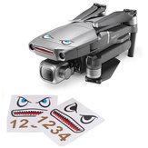 Shark Emoticon Sticker Set Adhesivos de pieles a prueba de agua decorativos para DJI Mavic 2 PRO / ZOOM RC Drone Cuadricóptero