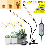 Dimmerabile 1/2/3 teste LED Grow Light Plant 5730 Growing lampada con clip per piante da interno Hydroponics